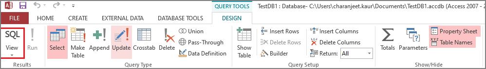 Select SQL View