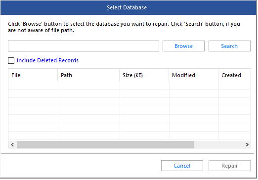 Select Database MDF File in Software