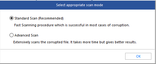 Select Scan Mode