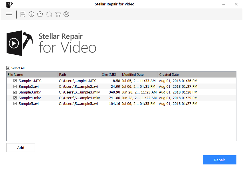 Stellar Repair for Video - Repair Corrupt Files