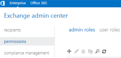 exchange admin roles
