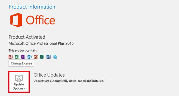 update Outlook