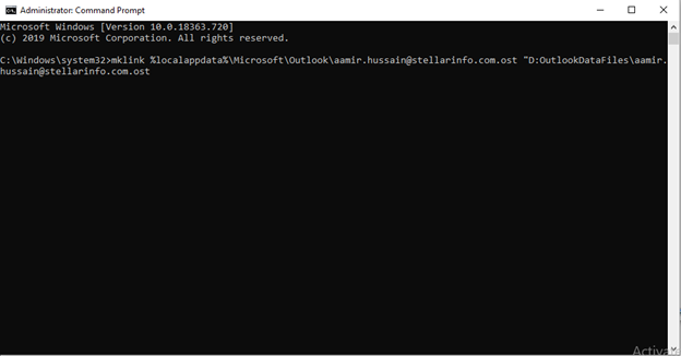 MKLINK Command to Create Symbolic Link