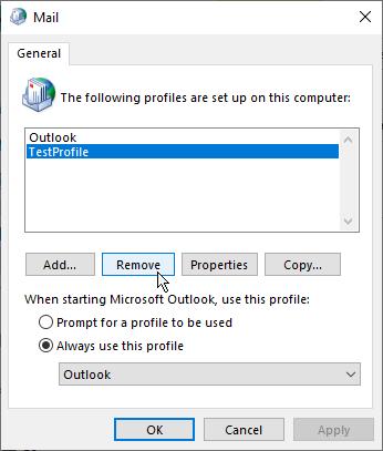 remove profile