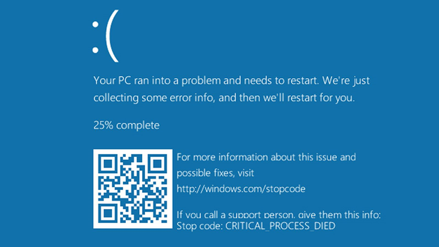 Critical Process Died Error Windows 10