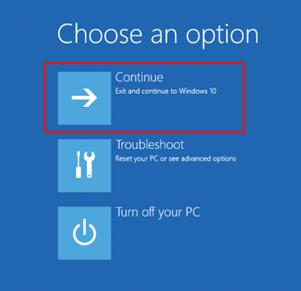 continue reset windows