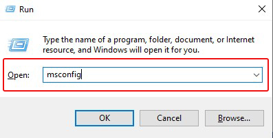 open system configuration windows