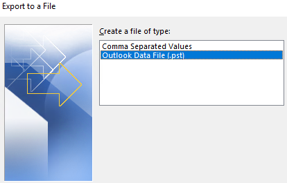export a file