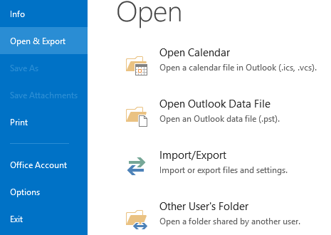 File and Open Export
