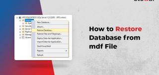 Restore Database from MDF File in SQL Server