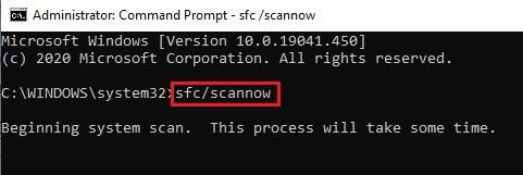 Run SFC/Scannow command