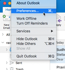 Adding Gmail account in Outlook for Mac