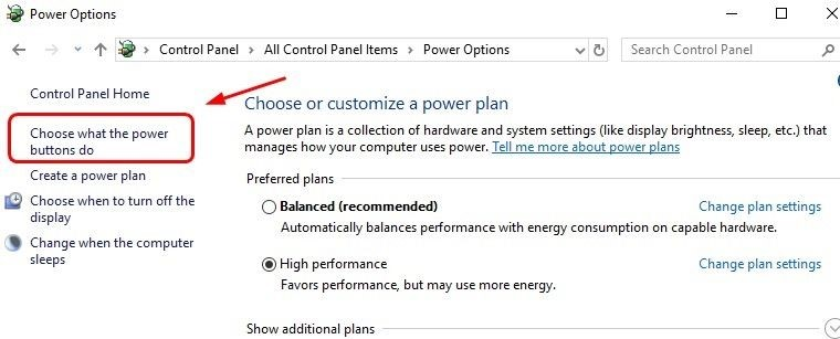 Choose what the Power Button Do