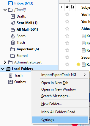 Open MBOX in Outlook Manually