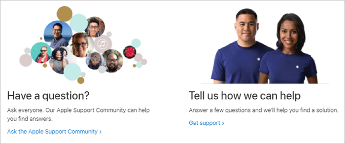 Apple Help Section