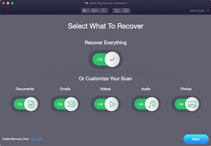 Select What to Recover