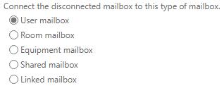 restoring to user mailbox