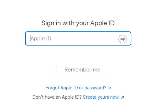 Sign In with Apple ID Box