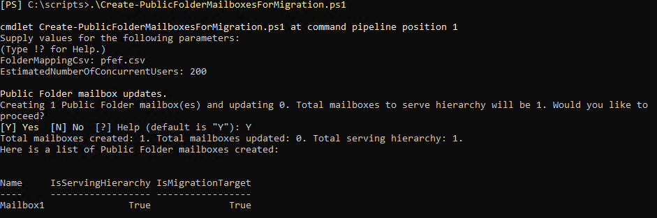 Create Public Folder Mailboxes For Migration