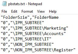 Export Public Folder Statistics