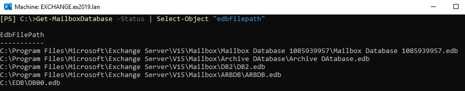 Get MailboxDatabase