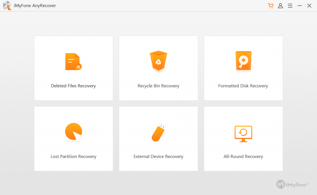 AnyRecover Data Recovery screen