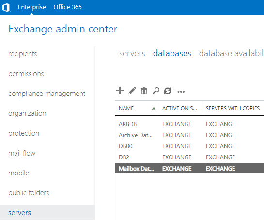 eac databases