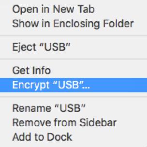 Encrypt Mac USB
