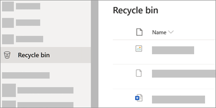 One drive Recycle bin store