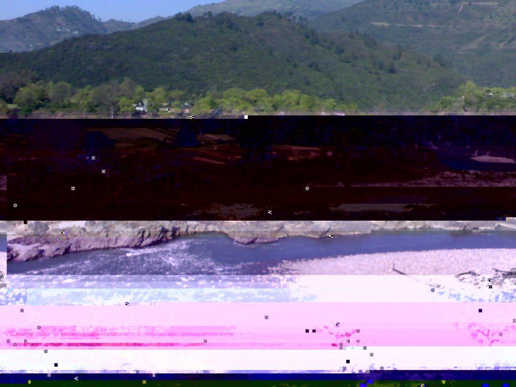 Color damaged corrupt image (Before repair)