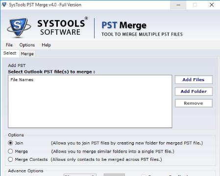 Systools PST Merge Tool