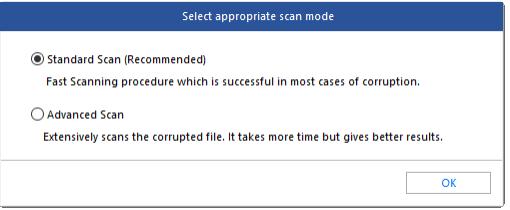 Choose Scan Mode