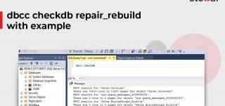 Dbcc Checkdb Repair_Rebuild With Example