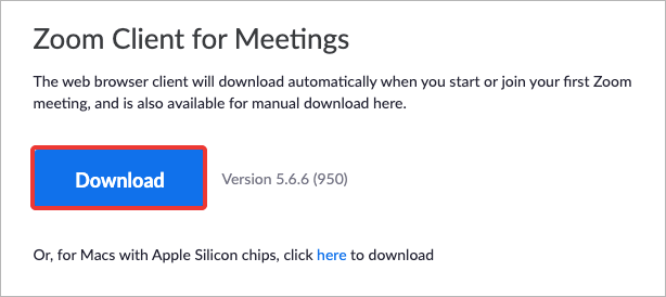 download zoom on mac