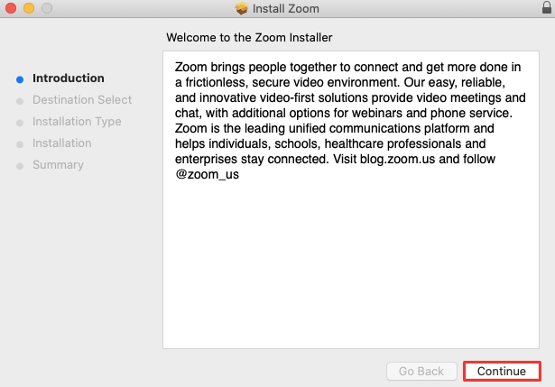 Install Zoom on Mac
