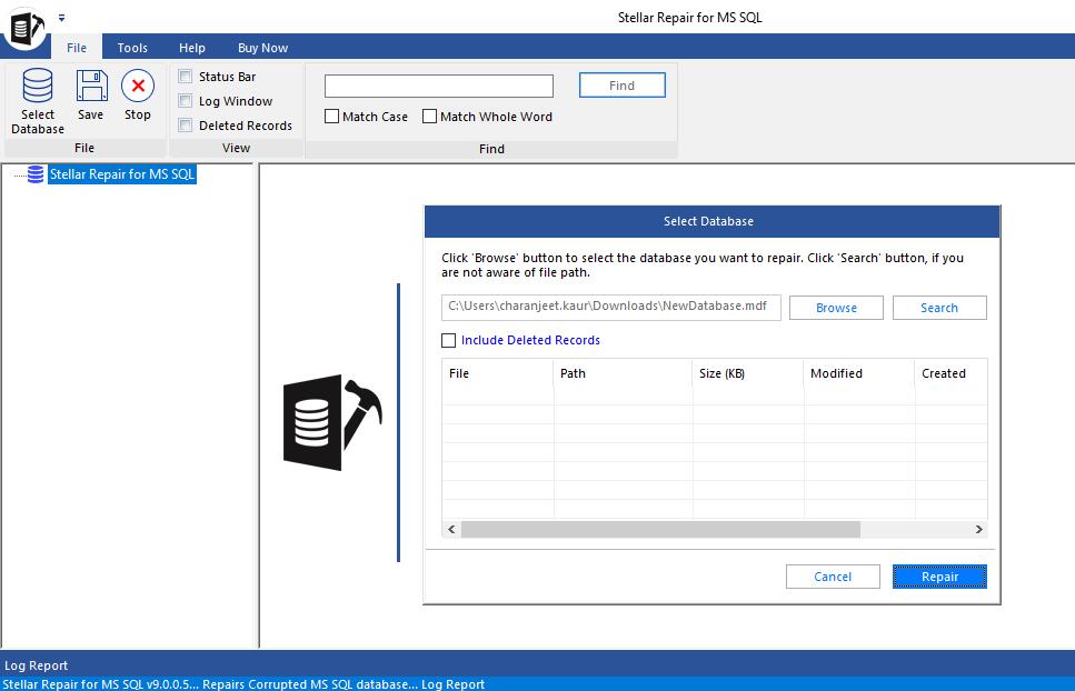 Repair Corrupt SQL Database File