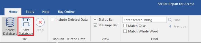 Save Database Option
