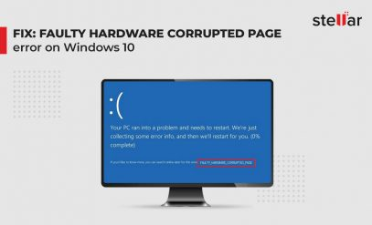 Fix Faulty Hardware Corrupted Page Error