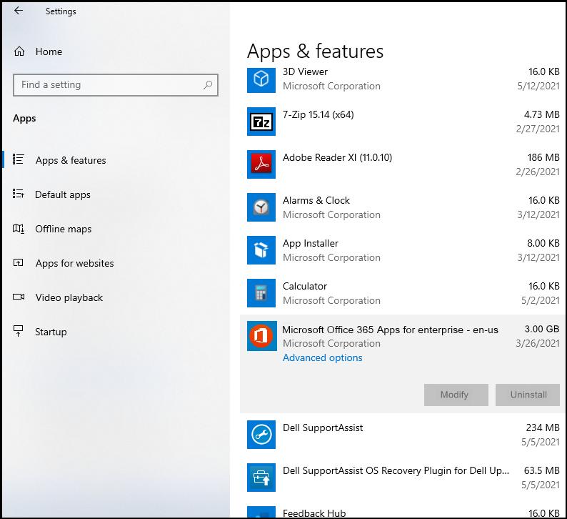 Microsoft 365 Application