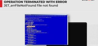 Fix the Error -1811 JET_errFileNotFound File not Found