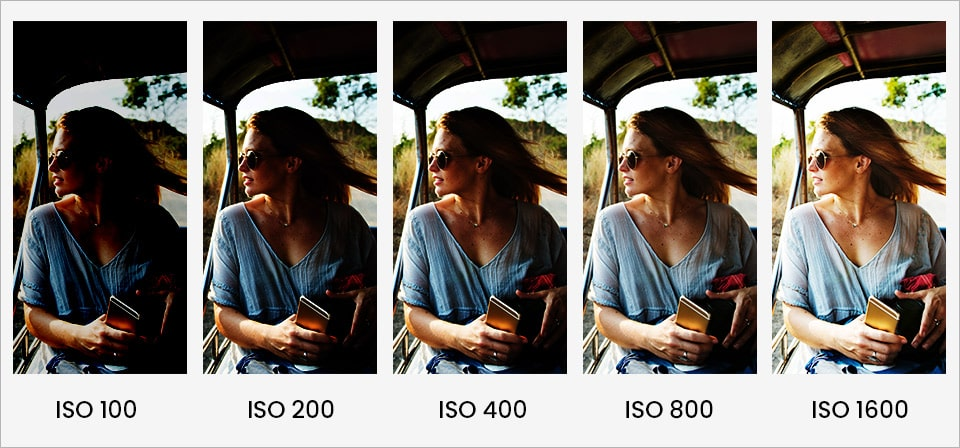 Photo gets brighter with increased ISO