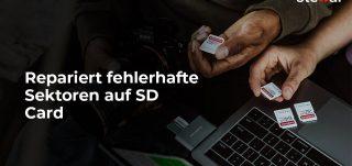 Repariert fehlerhafte Sektoren auf SD Card