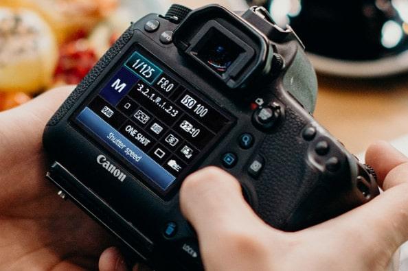 Shutter speed screen in Canon DSLR