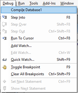 compile access database