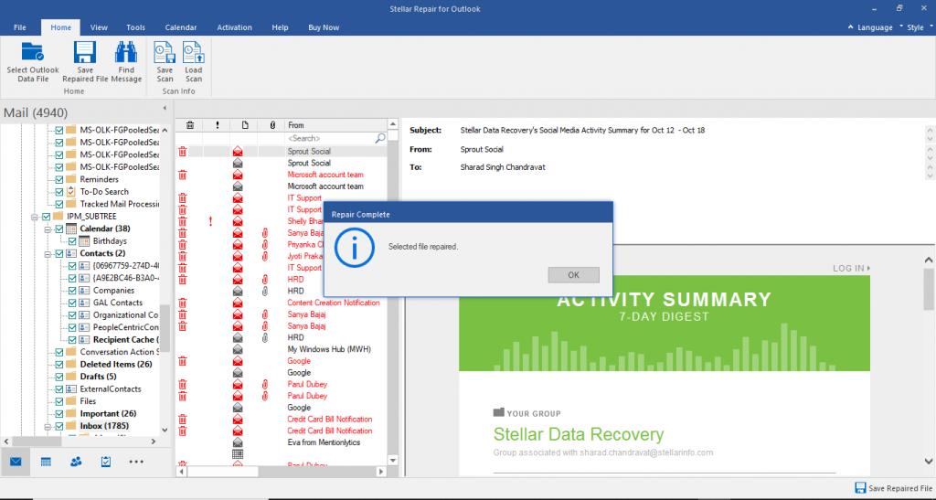 Stellar Repair for Outlook Preview
