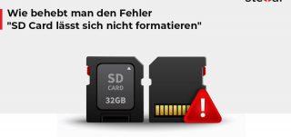 Wie behebt man den Fehler SD Card lässt sich nicht formatieren