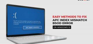 Easy Methods to Fix Apc_index_Mismatch Error