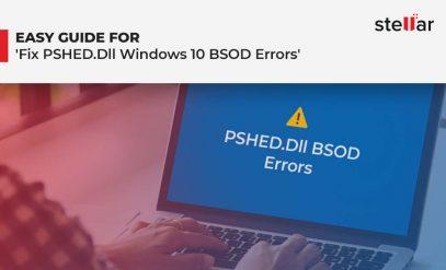 fix PSHED.Dll Windows 10 BSOD Errors