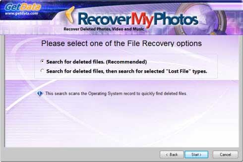 Get Data Recover MyPhotos