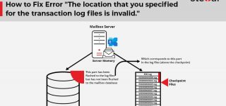 The location that you specified for the transaction log files is invalid
